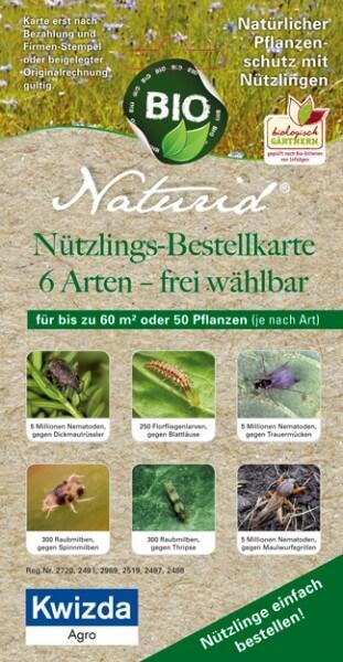 Naturid Nützlingsbestellkarte